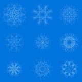White Snow Flakes Royalty Free Stock Photo