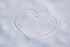 White snow heart Stock Photo