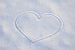 White snow heart Stock Photo