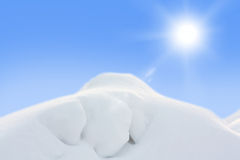 White snow hill landskape Stock Images