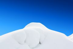 White snow hill landskape royalty free stock photo