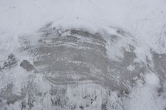 White snow and ice in the center an abstract background texture. For web-design, a banner, design Royalty Free Stock Images