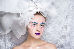 White snow queen royalty free stock images