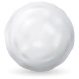 White snowball on white background.