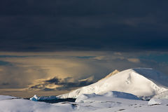 White snowcapped mountain Stock Photography