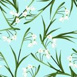 White Snowdrop Flower on Light Blue Background. Vector Illustration Royalty Free Stock Photo