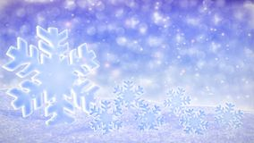 White snowfalling background loop - winter theme stock footage