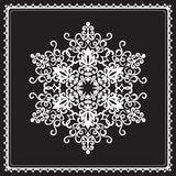 White snowflake Royalty Free Stock Photography