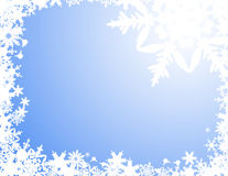 White snowflake background Stock Images