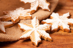 White snowflake cookies Royalty Free Stock Photos