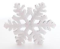 White snowflake decoration isolated. Snowflake decoration isolated on white background royalty free stock photos