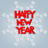 White snowflake and happy new year Royalty Free Stock Photos