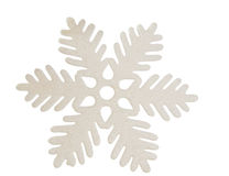 White snowflake isolated Royalty Free Stock Image