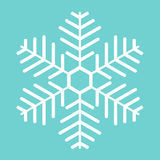 White snowflake. Royalty Free Stock Images