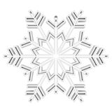 White Snowflake Stock Photo