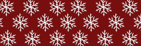 White snowflake over red background. White snowflake over dark red background royalty free illustration