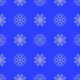 White Snowflake Seamless Pattern Stock Images