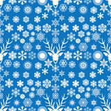 White snowflake seamless Royalty Free Stock Images