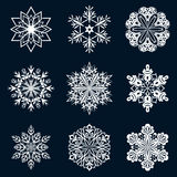 White snowflake shapes Royalty Free Stock Photos