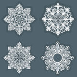 White snowflake Royalty Free Stock Image