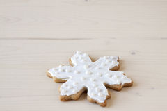 White Snowflake Sugar Cookies Stock Photo