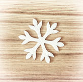 White snowflake, symbol of winter Stock Photography