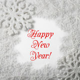 White Snowflake on a white background. Winter Royalty Free Stock Images