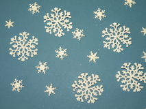 White snowflakes. Isolated on blue Royalty Free Stock Image