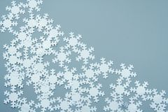 White snowflakes Stock Photography