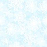 White snowflakes. On blue background. Seamless pattern royalty free illustration
