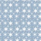 White Snowflakes on Aqua Background Seamless Background Pattern Tile Royalty Free Stock Photography