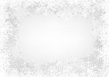 White Snowflakes Background Stock Images