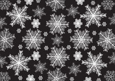 White snowflakes, black background. Snowflakes for posters, background, design sites Royalty Free Stock Photography