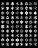 White snowflakes on a black background Royalty Free Stock Photography