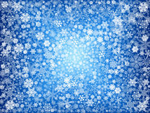 White snowflakes in blue Royalty Free Stock Image