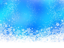 White snowflakes on blue background Stock Photo