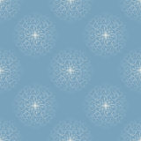 White snowflakes. On blue background Stock Image