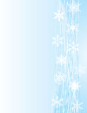 White snowflakes on blue background Royalty Free Stock Photography
