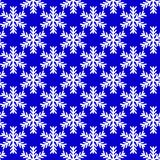 White snowflakes on blue background. vector seamless. Snowflakes on blue background. vector seamless pattern Royalty Free Stock Images