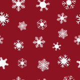 White snowflakes for Christmas Stock Photos
