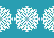 White snowflakes. Christmas pattern. Circular ornament and decorative lace. Vector Stock Images