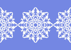 White snowflakes. Christmas pattern. Circular ornament and decorative lace. Vector. Illustration Royalty Free Stock Images