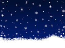 White SnowFlakes on Dark Blue Royalty Free Stock Photography