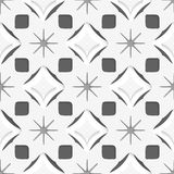 White snowflakes on dark gray seamless Stock Images