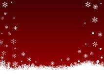 White SnowFlakes on Dark Red royalty free stock photo