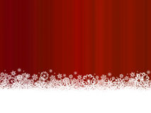 White snowflakes on dark red background Stock Images