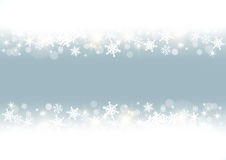 White snowflakes frame Royalty Free Stock Photos