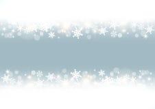 White snowflakes frame. Blue background with white snowflakes vector illustration