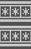 White snowflakes on gray background knitted pattern. Winter fair isle knitting texture. Seamless background for webpages, banners, posters. Vector Royalty Free Stock Images