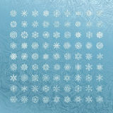 White snowflakes icon Stock Image